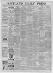 Portland Daily Press: July 18,1885