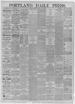 Portland Daily Press: July 21,1885