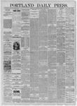 Portland Daily Press: July 22,1885