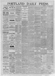 Portland Daily Press: July 25,1885