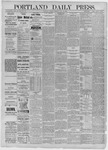 Portland Daily Press: July 28,1885