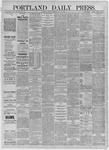 Portland Daily Press: July 31,1885