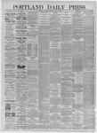 Portland Daily Press: August 01,1885