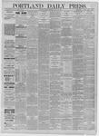 Portland Daily Press: August 03,1885
