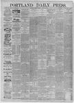 Portland Daily Press: August 04,1885