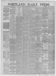 Portland Daily Press: August 05,1885