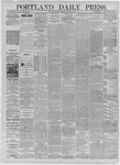 Portland Daily Press: August 07,1885