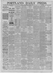 Portland Daily Press: August 11,1885