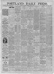 Portland Daily Press: August 12,1885