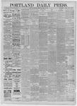 Portland Daily Press: August 13,1885