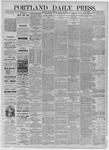 Portland Daily Press: August 14,1885