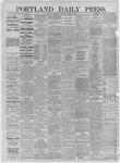 Portland Daily Press: August 19,1885