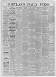 Portland Daily Press: August 20,1885