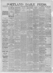 Portland Daily Press: August 21,1885