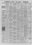 Portland Daily Press: August 24,1885