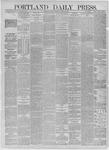 Portland Daily Press: August 28,1885