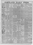 Portland Daily Press: September 05,1885