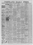 Portland Daily Press: September 11,1885