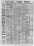 Portland Daily Press: September 12,1885