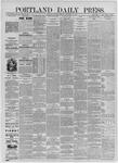 Portland Daily Press: September 14,1885