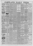 Portland Daily Press: September 17,1885