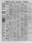 Portland Daily Press: September 18,1885