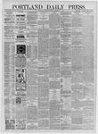 Portland Daily Press: September 19,1885