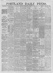 Portland Daily Press: September 23,1885