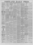 Portland Daily Press: September 24,1885