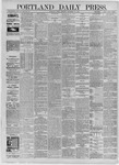 Portland Daily Press: September 25,1885