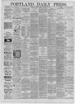 Portland Daily Press: September 28,1885