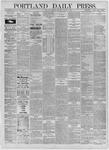 Portland Daily Press: October 03,1885