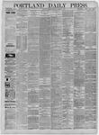 Portland Daily Press: October 09,1885