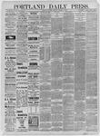 Portland Daily Press: October 13,1885