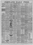 Portland Daily Press: October 19,1885