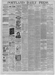 Portland Daily Press: October 23,1885