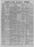 Portland Daily Press: October 24,1885