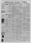 Portland Daily Press: October 30,1885