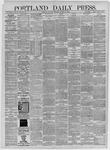 Portland Daily Press: October 31,1885