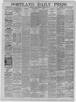 Portland Daily Press: November 03,1885