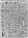 Portland Daily Press: November 06,1885