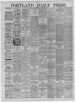 Portland Daily Press: November 09,1885