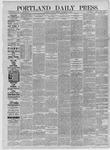 Portland Daily Press: November 10,1885