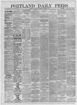 Portland Daily Press: November 12,1885