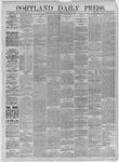 Portland Daily Press:  November 13,1885