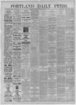 Portland Daily Press: November 14,1885