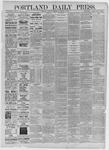 Portland Daily Press:  November 17,1885