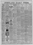 Portland Daily Press:  November 19,1885