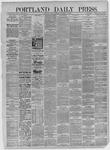 Portland Daily Press: November 20,1885