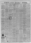 Portland Daily Press:  November 25,1885